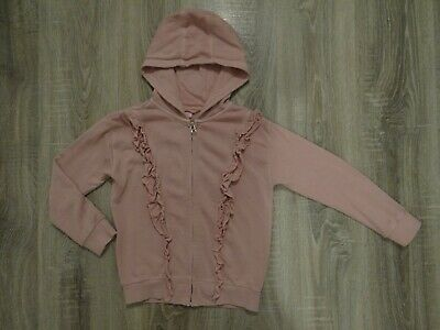 Girls NEXT hoodie/ jacket/ coat/ hooded top with frill at the front size 8 years