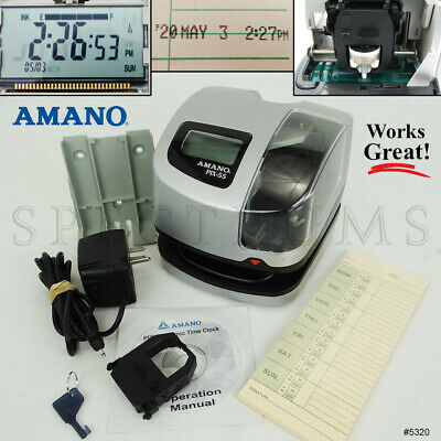 Amano PIX-75 Atomic Time Clock/Recorder Office Products Time ...
