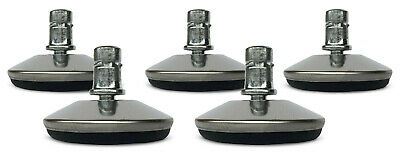 """Office Chair Low Profile Glides 7/16"""" Stem - Set of 5"""