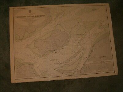 Vintage Admiralty Chart 383 AUSTRALIA - THURSDAY ISLAND HARBOUR 1952 edn