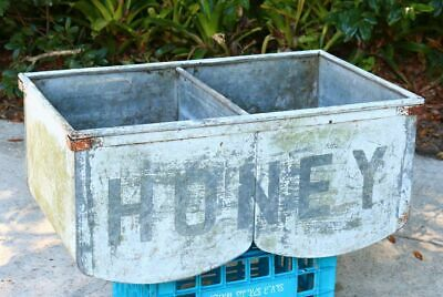 HONEY shed antique metal sink double drains old reclaimed boho rustic cabin