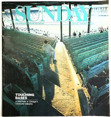 Chicago Tribune Sunday Magazine July 10 1988 Baseball Park Wrigley Comiskey