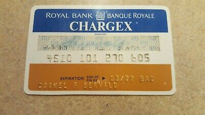 Vintage Expired 1977 Canadian Imperial Chargex Credit Card