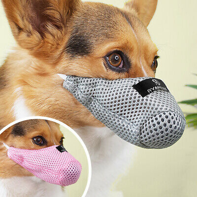 No Bite Small Dog Muzzle Soft Mesh Adjustable Breathable Safety Mouth Anti Bark