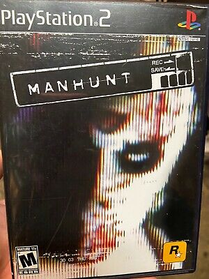 Manhunt (Sony PlayStation 2, 2003) Complete In Box Wit Original Manual