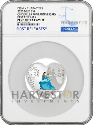 2020 Cinderella 70Th Anniversary - Heart Shaped Coin - Ngc Pf70 First Releases