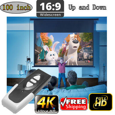 Remote Control 100 16:9 Electric Motorized HD Projector Screen Wall mountable