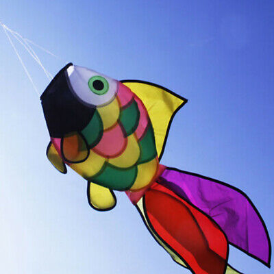 Rainbow Fish Kite Windsock Outdoor Garden Decor Kids Line Laundry Kids Toys LU