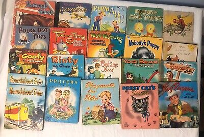 20 Vintage Whitman and Tell-A-Tale book lot