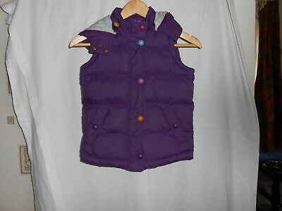 Girls Joules  PURPLE Gilet ( LITTLE JOULE ) Age 8 Yrs , USED LITTLE VGC