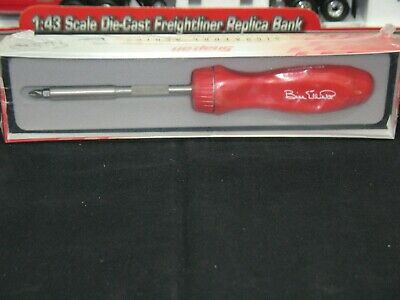 Snap On Tools Usa Bill Elliott Collectors Ratcheting Screwdriver Rare
