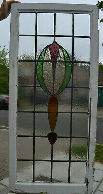 Leaded light stained glass window sash. R920b. DELIVERY OPTION!