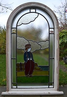 Stained glass leaded light window. R863. DELIVERY OPTION!