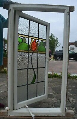 Leaded light stained glass window. R949a. DELIVERY OPTION!