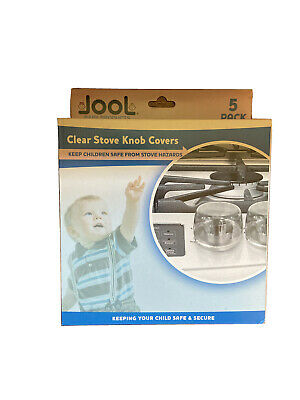 Jool Clear Stove Knob Covers (5 Pack) Child Safety Guards