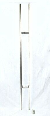 """New Commercial Grade Office 72"""" Long Stainless Door Push Pull Handle Set"""