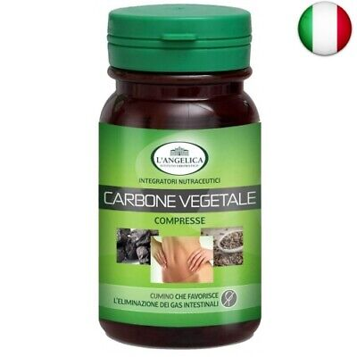 L'Angelica Carbone Vegetale, 75 compresse, Totale: 45 gr