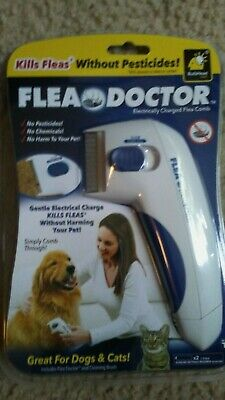 Flea Doctor Cat & Dog white flea comb