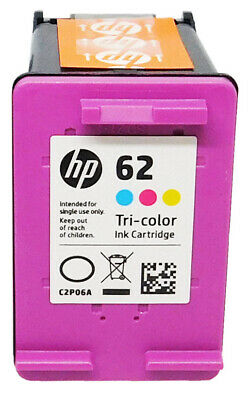 HP #62 Color Ink Cartridge C2P06AN GENUINE NEW SEALED