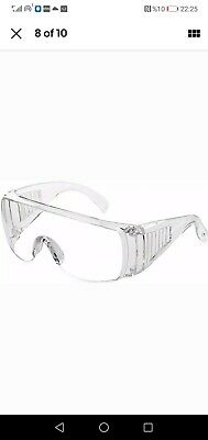 Protective Safety Goggles Clear Eye Protection Anti-Fog Wide-Vision Over Glasses