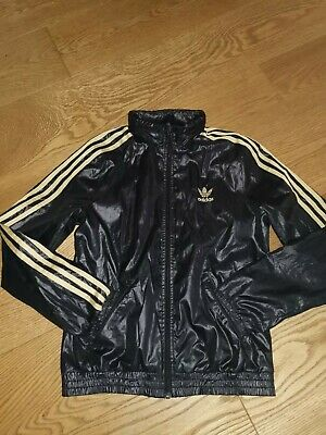 ADIDAS Originals woman's girls Vintage Retro Jacket Shell Front Zip Up Sz8