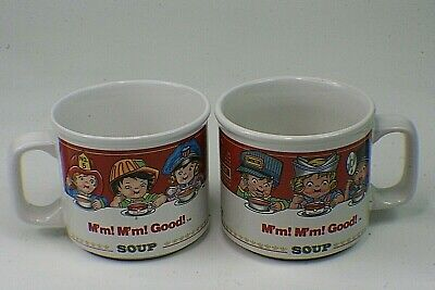 2 Vintage 1993 Campbell Soup Heroes Cups Fireman Nurse Police By Westwood 14 oz.