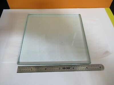 GLASS STAGE [dirty] PLATE SPECIMEN MICROSCOPE PART AS PICTURED &A3-B-10