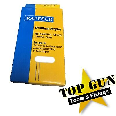 RAPESCO TACWISE 91 Series Staples 30mm 1,000 Staples