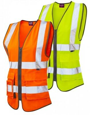 Quality Ladies Hi Vis Vest Waistcoats Work Safety All Sizes