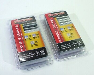 Two Packs of New & Unopened Staples - 1500 PCS - Professional or DIY.