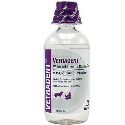 Dechra Vetradent Water Additive for Dogs Cats (17 oz)