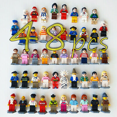 48pcs/lot LEGO TYPE People Figures Pack Building Blocks Camping Minifigs Sets