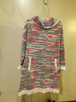 SIMPLY VERA WANG Hooded fleece nightgown, size LG