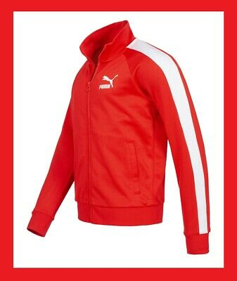New Iconic Puma Track ' 68 T7 Jacket Vestes Classics Red & White Rouge & Blanche