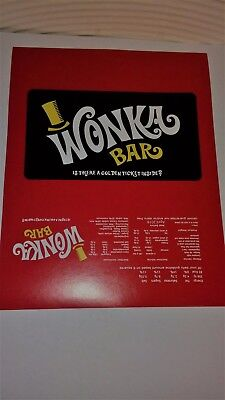 25 Willy Wonka Chocolate Bar Wrappers +25 Golden Tickets (chocolate not included
