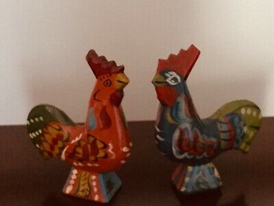 Nils Olsson, Sweden, dala painted roosters