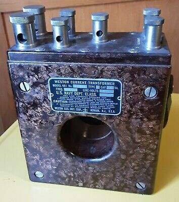 Vintage Weston US Navy Current Transformer  Model 461 Type 2 - 20-1000 Hz TESTED