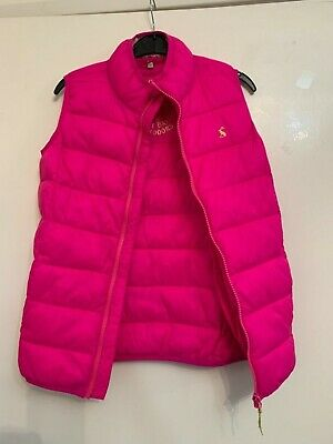 BN Joules Girls Croft True Pink Lightweight Padded Gilet Age 9-10 Cerise V_JNR