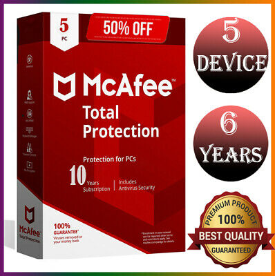 McAfee Total Protection 2020 5 Devices 6 Years Ínstant dєlivery Genuine License