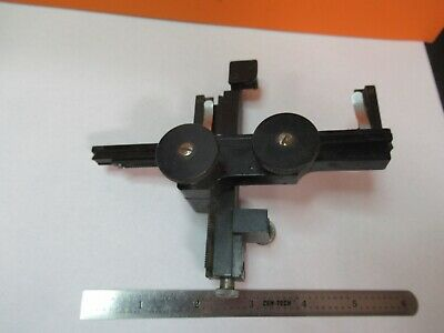 Antique Bausch Lomb Stage Clips Micrometer Xy Microscope As Pictured &7B-B-67