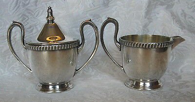 Antique SHEETS R. S. CO Silver Plated SUGAR w/LID & CREAMER Set