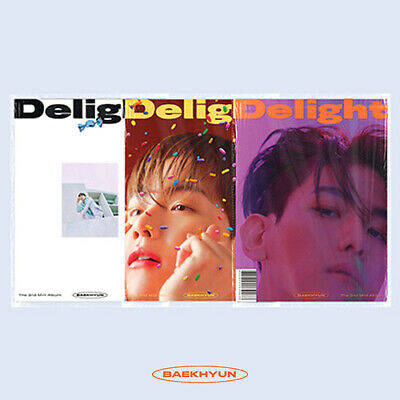 BAEKHYUN DELIGHT 2nd Mini Album CD+POSTER+Photo Book+3 Card+FPoster+Sticker+GIFT