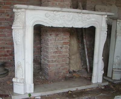 Classic French Design Marble Fireplace Mantel and Surround features Solid Block