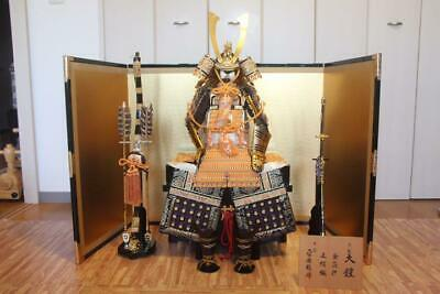 "Japanese samurai warrior doll figure 23""  sword armor helmet Excellent BIG!"