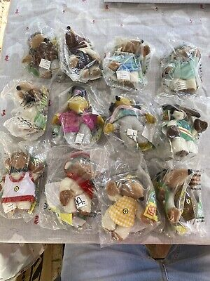 Mcdonalds Happy Meal Toys 1999 Wombles  Full Set Of 12 In Bags
