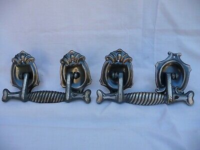 Vintage Pair Polished Metal Coffin Handles Very Old Stock Re purpose Old 1920s