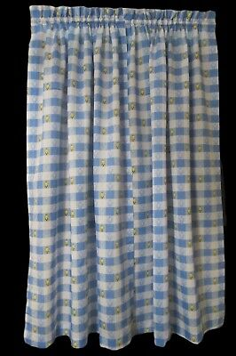 Tweety Bird Blue White Checkered Curtain Set 1998 Warner Bros