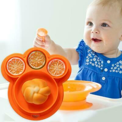 Cute Silicone Happy Baby Kids Suction Table Food Tray Placemat Plate Bowl Mat!!