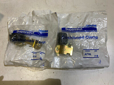 Lot of 20 Thomas /& Betts Superstrut Cushioned Clamps A716 1//4 NIB Pipe Tube T