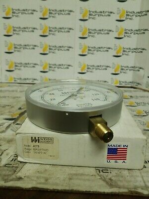 Weiss Instruments 4CTS Pressure Gauge *FREE SHIPPING*